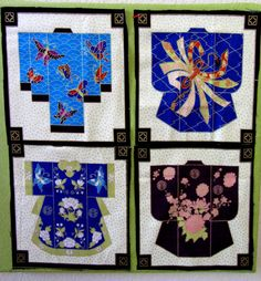 Kimono quilt patterns-there are no patterns here but the pictures will make for fine inspiration for drawing patterns.
