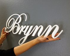 3-D Acrylic Wall Letters That Are Easy To Hang, personalized...type in baby name or word, pick color, font and order, then hang in your nursery. www.displayaname.com