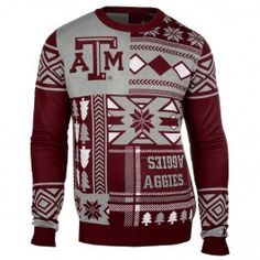Texas A&M Aggies NCAA Patches Ugly Sweater (Maroon)