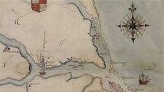 425 year old map offers new clues to the disappearance of the lost Roanoke colony - thanks KVT!