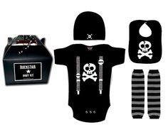 BABY or TODDLER ROCKSTAR kit gift set Onesie Leg by lowleepop, $38.00