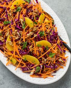 Recipe: Shredded Cabbage and Sweet Potato Slaw — Recipes from The Kitchn #recipes #food #kitchen