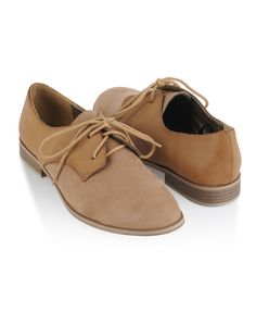 Contrast Leatherette Saddle Shoes