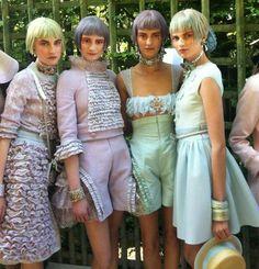 pastel hair still going strong at chanel via elle magazine