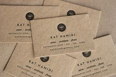 business cards // kraft + letterpress