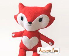 Fox Sewing PATTERN - pdf  ***SPECIAL OFFER*** by RedRockingBird on Etsy https://www.etsy.com/listing/180054494/fox-sewing-pattern-pdf-special-offer