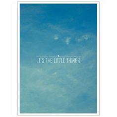 Little Things-Poster - BESTSELLER | Art. Everywhere.
