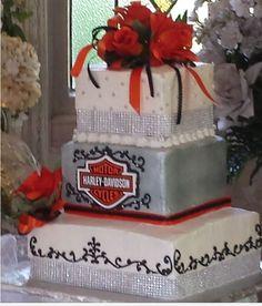 harley davidson wedding theme. | wedding cakes | pinterest