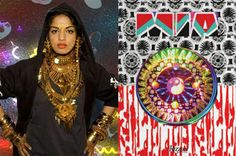 ideas for imagery and shangrila concept..mish mash MIA is the queen for  this