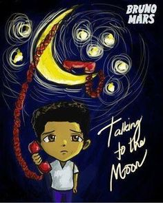 Bruno Mars, taking to the moon, this is really cute.