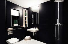 Color negro diseño elegante para baños modernos y tradicionales