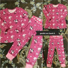 Schlafanzug ☆☆☆ abgewandeltes Trägerkleid und Kinderhose aus dem Buch kinderleicht von pauline dohmen ☆☆☆ Stoffe hafenkitz von afs☆☆☆ genäht von Sarah D.