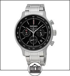 3368c138e3c5 Seiko hombre-reloj analógico de cuarzo con cronógrafo de acero inoxidable  SSB165P1 ✿ Relojes para