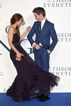 And Eddie Redmayne and Hannah Bagshawe, who would rather joke around together than pose for photos. | 28 Celebrity Couples Who'll Make You Believe In Love Again
