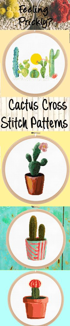 Who doesn't love cacti? And these cactus cross stitch patterns and kits are gorgeous! You can check them out here: https://www.leiapatterns.com/search?q=cactus I love these modern cactus patterns, they are beautiful and I bet they make great gifts for friends and family!