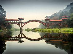 Leshan Giant Buddha bridge by Ady Petrova #WeAreAlive