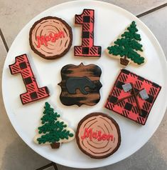 Excited to share this item from my shop: Lumberjack Birthday Cookies / One Dozen First Birthday Cookies, Boys First Birthday Party Ideas, Birthday Party Desserts, Wild One Birthday Party, 1st Boy Birthday, Boy Birthday Parties, Frozen Birthday, Birthday Decorations, Lumberjack Cake