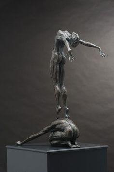 'Conception 2 (Bronze Nude Couple Wild Dance statues)' by Keith Calder Bronze Abstract Dance / Dancer sculpture by sculptor Keith Calder titled: 'Conception – Artwork View 1 Sculpture Metal, Human Sculpture, Abstract Sculpture, Wire Sculptures, Garden Sculpture, Creation Art, Contemporary Sculpture, Contemporary Art, Oeuvre D'art