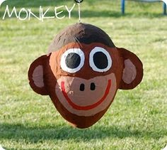 pinata, would have to make without the face so the monkeys wouldn't be scared