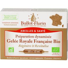 Préparation Dynamisée Gelée Royale Française Bio Ballot-Flurin Sans Fructose, Propolis, Chocolate Slim, France, Bio, Products, Health Products, Diet Supplements, Runny Nose