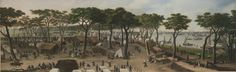 "| Cándido López | ""Vista interior de Curuzú mirado de aguas arriba"" | 1858 | Óleo sobre tela | 48,2 x 152,4 cm. | Inv. 7128 | http://www.mnba.gob.ar/coleccion/obra/7128 |"