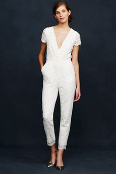 J. Crew Eyelash Lace Jumpsuit | 17 Impossibly Pretty Solange-Inspired Bridal Jumpsuits