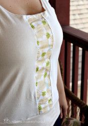 Top with a Pop - One could add that stripe to an existing top you have outgrown. :-))
