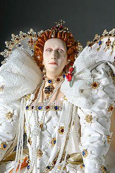 Queen Elizabeth I, ca. 1600, Tudor Dynasty. Professional virgin and great dissembler.