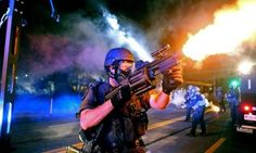 ".""Since I have been here in #Ferguson, I've personally had about a hundred M-16s and AK-47s pointed at me."" http://owl"