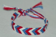 USA Chevron Bracelet! Want one of your own? Check out: http://www.etsy.com/shop/CreationsbyJulie7