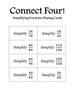 photograph relating to Simplifying Fractions Game Printable named 82 Great Simplify Fractions illustrations or photos within just 2018 Simplifying