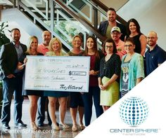 Last week Center Sphere had the privilege of being able to provide the proceeds from their Network Celebration Pop-Up Auction which totaled $5600.00 to EIGHT of the #NonProfits who were in attendance that night! Receiving checks from CEO Brett Boyer were Chariots4Hope Grief's Journey Rejuvenating Women Heartland Family Service Habitat for Humanity of Omaha Christian Heritage Omaha Home for Boys and HEALing Embrace. Thank you CenterSphere!!! #CenterSphereGives #TheNetwork #centersphere…