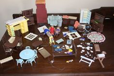 Several Pieces of Vintage Doll House Furniture by jewelryonmymind, $18.00