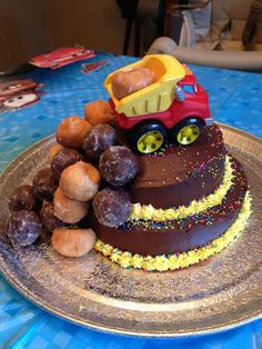 Dump truck cake...Jedi would love this!