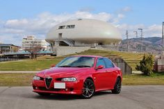 Alfa Romeo 156 at Ishinomori Manga Museum.