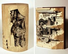 Brian Dettmer turns books into fascinating carved sculptures called 'Book Autopsies.'