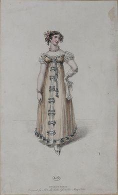 1816 La Belle Assemblee. Evening Dress.