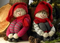 Free pattern in Danish All Things Christmas, Christmas And New Year, Christmas Home, Xmas, Christmas Stockings, Christmas Ornaments, Christmas Knitting, Holidays And Events, 4th Of July Wreath