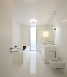 Beautiful white bathroom | House in Ovar, Portugal by Paula Santos |