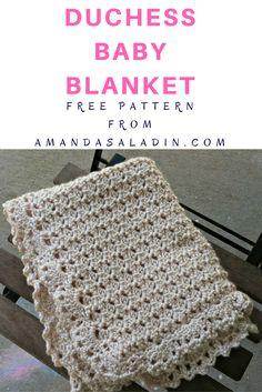 Free Crochet Pattern - Duchess Baby Blanket by Amanda Saladin