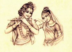 Radha Krishna flute