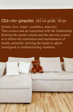 Chiropractic Defenition - Chiropractor Wall Decal - Chiro Decal 0141