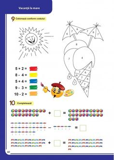 Math Worksheets, Marie, Children, Colors, Handmade, Food, Young Children, Boys, Hand Made