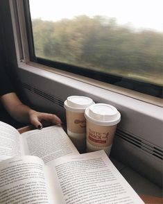 I just order the usual, a creamy coffee and a doughnut, then catch the third train dropping me off at the same foreign spot I never bothered to explore. Waiting for the same person who sits in front of me in this train. Foggy Morning, Coffee And Books, Coffee Reading, Book Aesthetic, Travel Aesthetic, Train Rides, Train Trip, Study Motivation, Train Travel