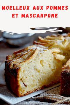 Moelleux aux pommes et mascarpone No Bake Treats, Banana Bread, Deserts, Baking, Food, Sweets, Simple Chocolate Mousse Recipe, Kitchens, Sweet Recipes