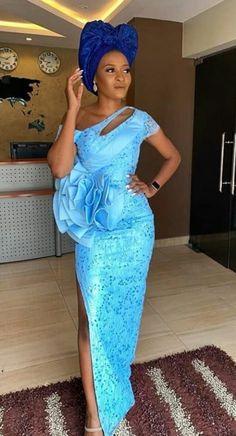 Aso Ebi Lace Styles, African Lace Styles, Lace Dress Styles, Ankara Styles, Lovely Dresses, Beautiful Gowns, Nigerian Lace Dress, Nigerian Bride, African Wear