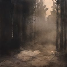 'Morning mist', watercolor by Magnus Petersson