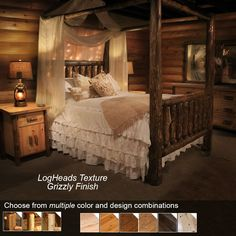Log Canopy Bed | Rustic Canopy Bed