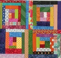 four scrappy cabin blocks