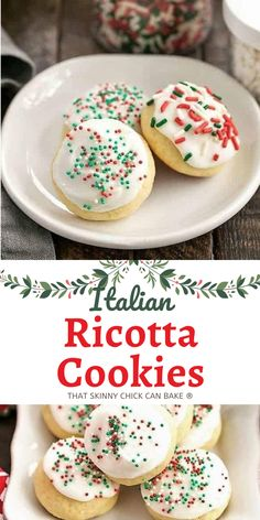 Tender, irresistible Frosted Italian Ricotta Cookies - an Italian Christmas cookie that's too delicious not to make all year long!! #cookies #holidaycookies #Christmascookies #Italian #cookieexchange #sugarcookies #thatskinnychickcanbake Fun Cookies, Holiday Cookies, Sugar Cookies, Favorite Holiday, Holiday Fun, Italian Ricotta Cookies, Italian Christmas Cookies, Cookie Exchange, Love Food